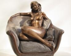 Bronze-statue-of-woman-figurines-artistic-nudes-Nude-on-divan