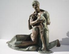Bronze-statues-sculptures-Lovers