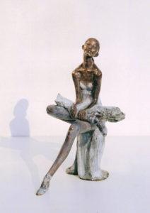 Ballerina statue bronze ballet dancer sculpture Seated Ballerina