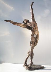 Ballerina statue bronze ballet dancer sculpture Male Dancer muscolar man