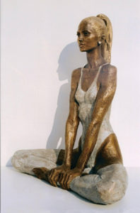 Ballerina statue bronze ballet dancer sculpture Dancer at rest