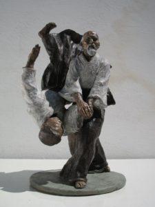 Aikido-Statue-Bronze-sculptures-martial-arts-fighters-warriors-Aikido-koteoroshi-kotegaeshi-technique
