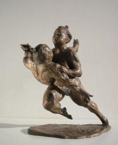 Aikido-Statue-Bronze-sculptures martial arts fighters warriors Sumo side