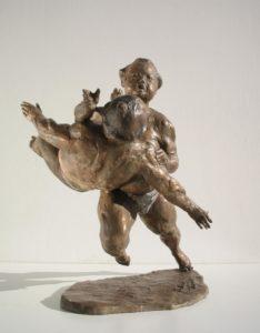 Aikido-Statue-Bronze-sculptures martial arts fighters warriors Sumo front