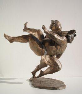 Aikido-Statue-Bronze-sculptures martial arts fighters warriors Sumo