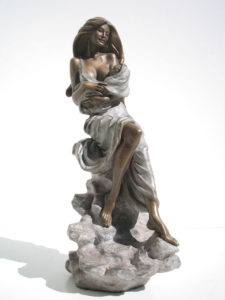 Bronze Mother and child statue woman sculptures Motherhood bearing a child
