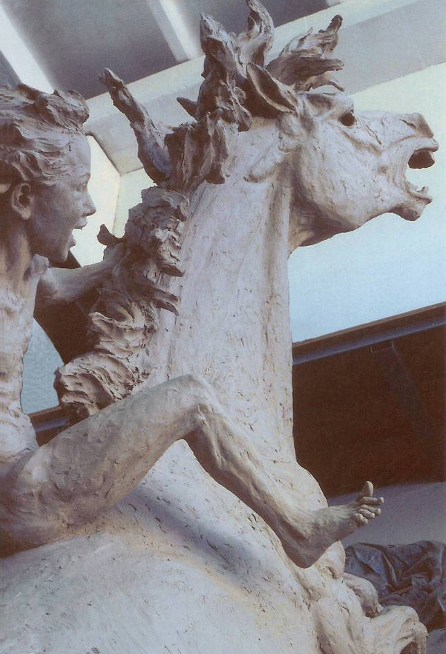 Horse bronze statue monuments in bronze sculptures for the garden lost wax tecnique