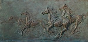 Bronze-sculptures-bas-reliefs-Wild-Horses-Freedom-code-29-a-cm50x102-year-1991