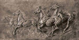Bronze-sculptures-bas-reliefs-Wild-Horses-Freedom-code-29-b-cm50x102-year-1991