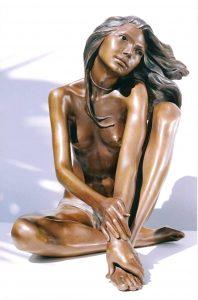 Bronze-statues-of-women-sculptures-artistic-female-nudes-code-134-Romantic-a-cm55x45x40-year-2002