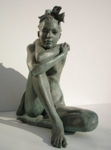 Bronze-statues-of-women-sculptures-artistic-female-nudes-code-85-a-Girl-In-Love-cm44x43x22-year-1998