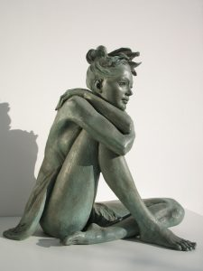 Bronze-statues-of-women-sculptures-artistic-female-nudes-code-85-b-Girl-In-Love-cm44x43x22-year-1998