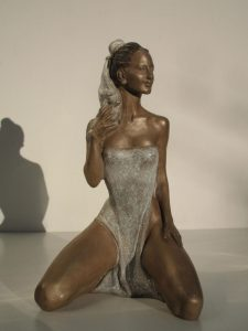Bronze-statues-of-women-sculptures-artistic-female-nudes-code-88-Femininity-cm19x11x10-year-1999