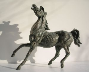 Sculptures-of-animals-horses-statuettes-in-bronze-code-24-Horse-Sauro-a-cm52x61x21-year-1991